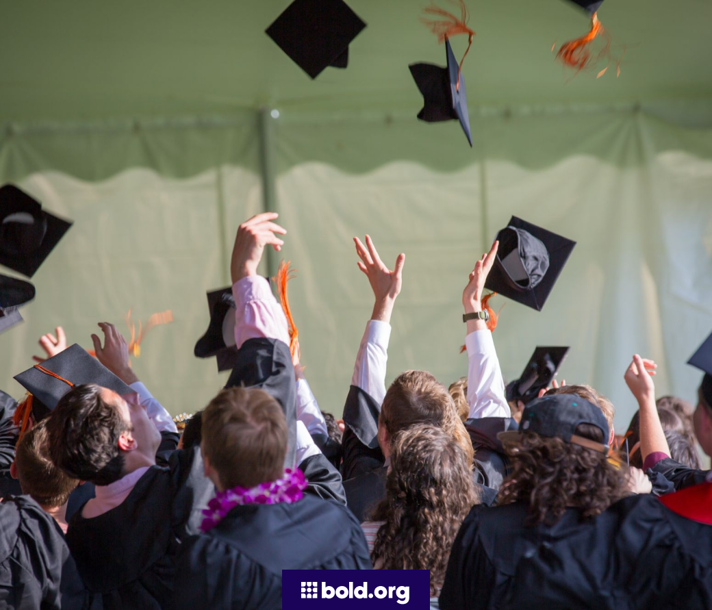 Students throwing their caps in the air at graduation